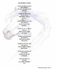 "Poetry Print of ""My Horse's Wish"" by Barbara Anne Dunn.  Click here to see this image larger -- and so you can read the poem."